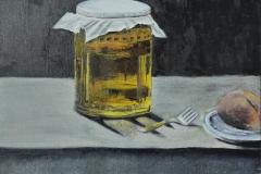 Öl auf Malplatte, 35 cm x 35 cm, 120 €