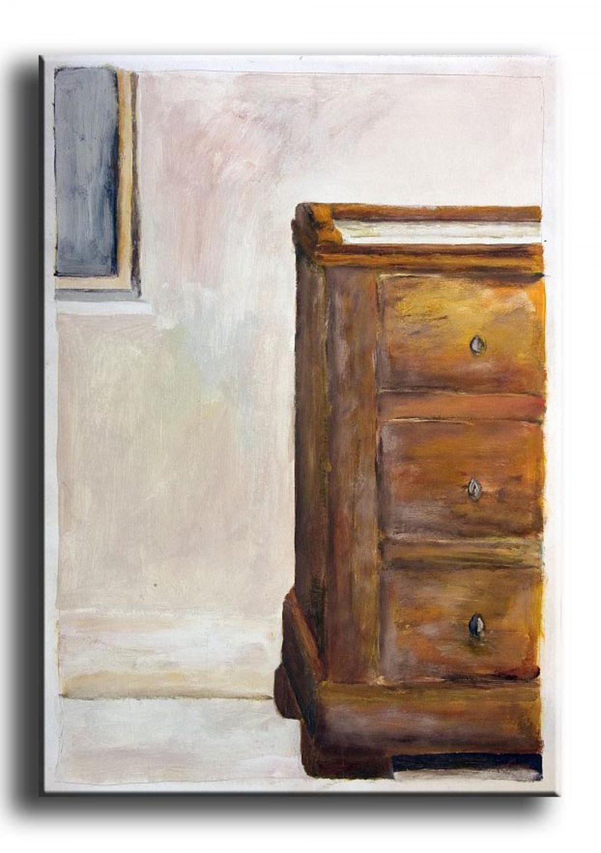 Kommode, Malerei, Acryl